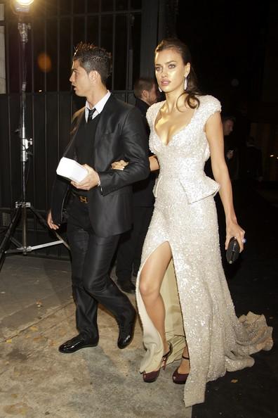 C. Ronaldo with Irina Shayk