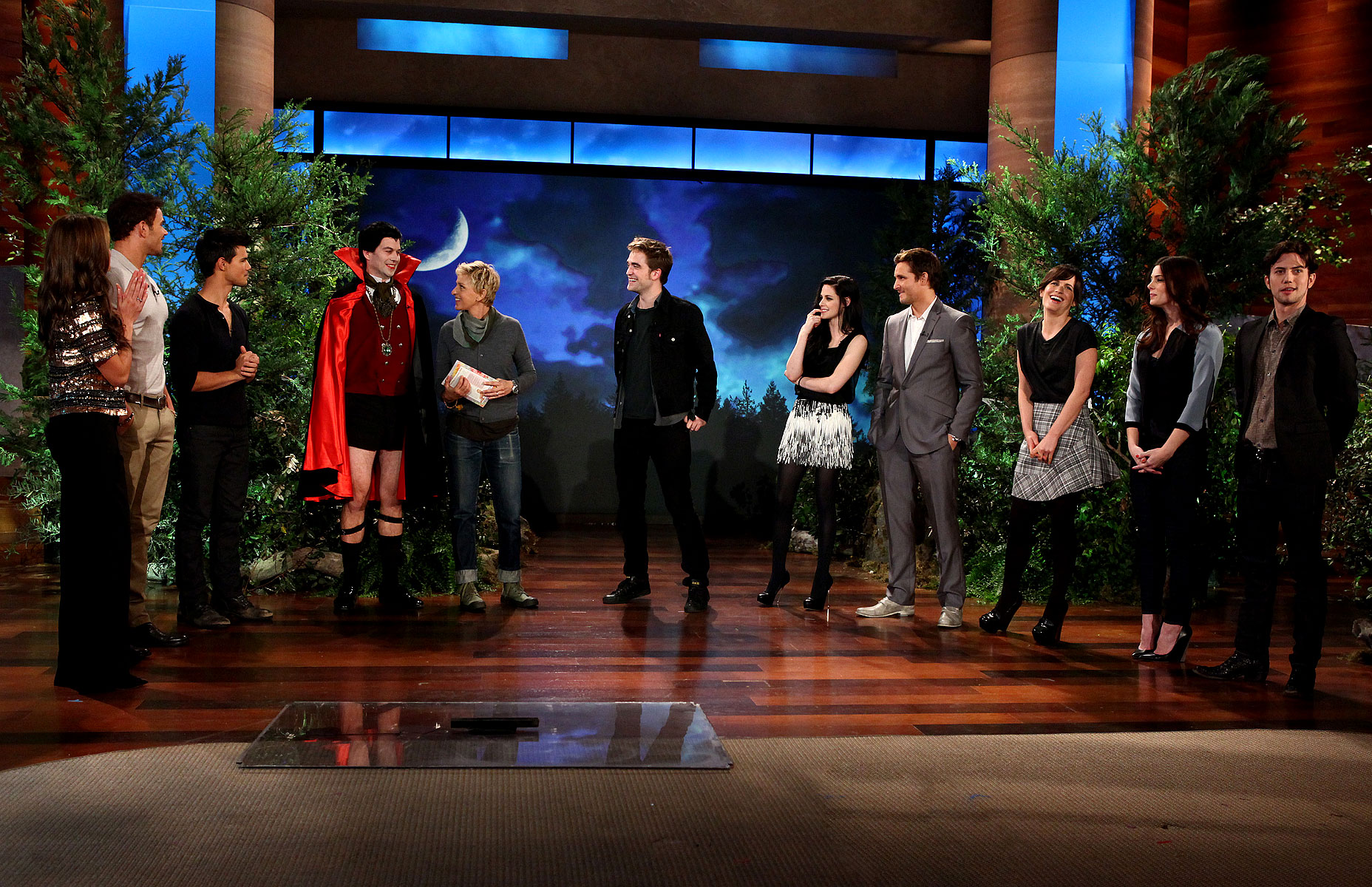 Cast Breaking Dawn en The Ellen tampil