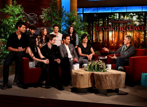 Cast Breaking Dawn en The Ellen mostrar