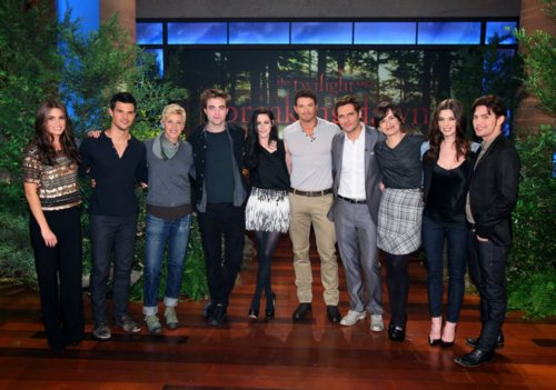 Cast Breaking Dawn en The Ellen toon