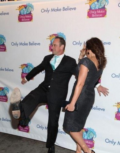 Elliot and Olivia wallpaper containing a well dressed person and a business suit titled Chris & Mariska - Only Make Believe
