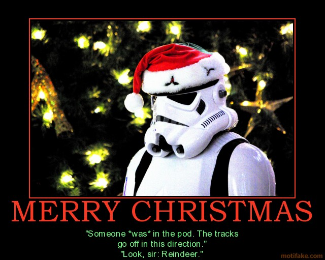 Star wars comedy christmas stormtrooper