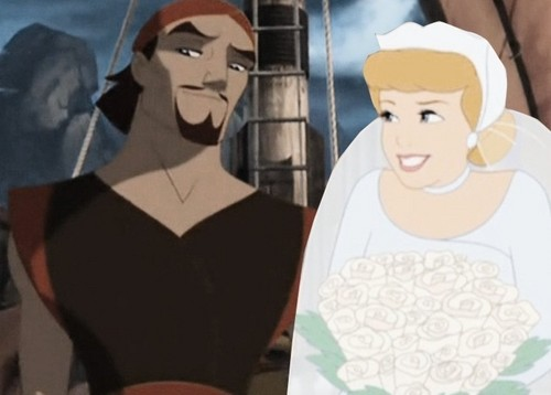 disney crossover achtergrond probably containing a portrait titled Cinderella and Sinbad