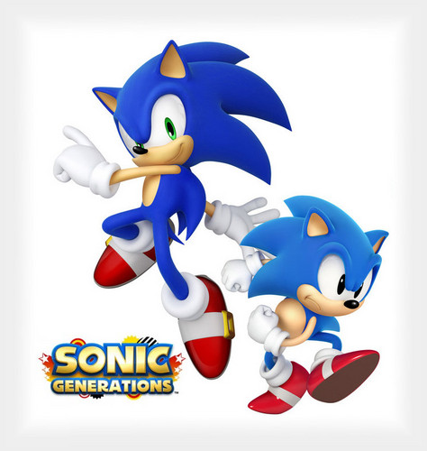 Classic Sonic and Modern Sonic