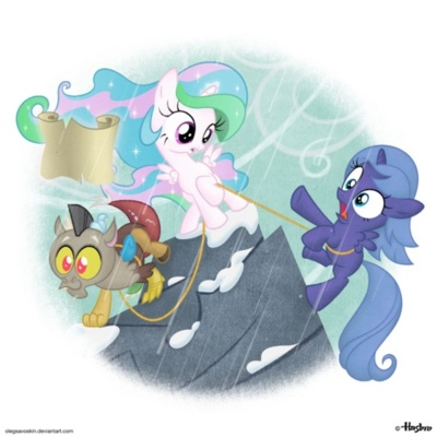 Discord, Celestia, and Luna