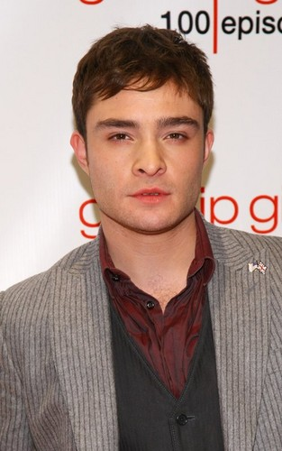 Ed at 'Gossip Girl' 100 episode celebration (November 19).