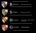 How the different houses view and use knoweledge - hogwarts-house-rivalry fan art