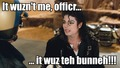 Michael blames the Speed Demon bunny!