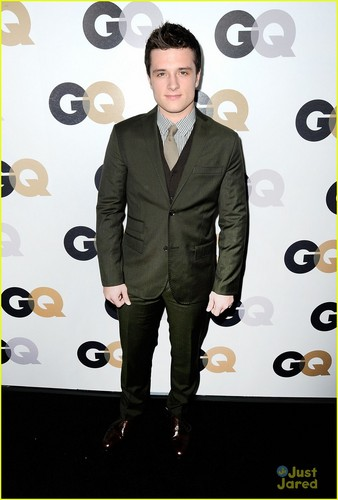 Josh Hutcherson wallpaper with a business suit, a well dressed person, and a suit called Josh Hutcheron & Jacqueline Emerson: GQ Party Pair