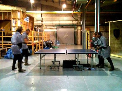 Knights Playing Ping Pong