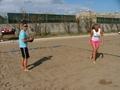 Kvitova de praia, praia