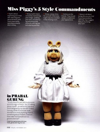 The Muppets wallpaper probably containing anime called Miss Piggy - InStyle Magazine