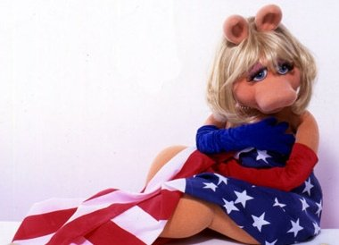 The Muppets wallpaper titled Miss Piggy - US Flag