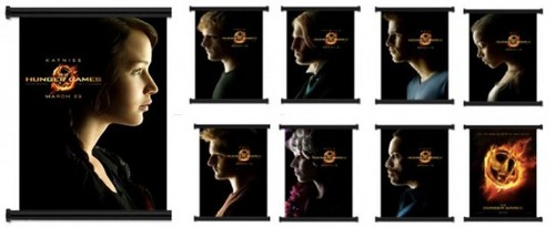 New Hunger Games Character Movie Poster bacheca Scrolls for Sale
