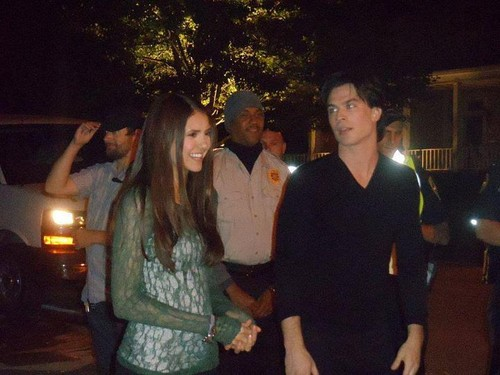 Nian on Set of The Vampire Diaries