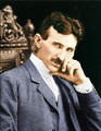 Nicola Tesla after 40, in colour
