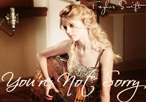 "One of my fanmade song covers  for ""You're Not Sorry"""
