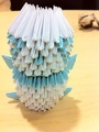 Blue Origami Panda - origami fan art