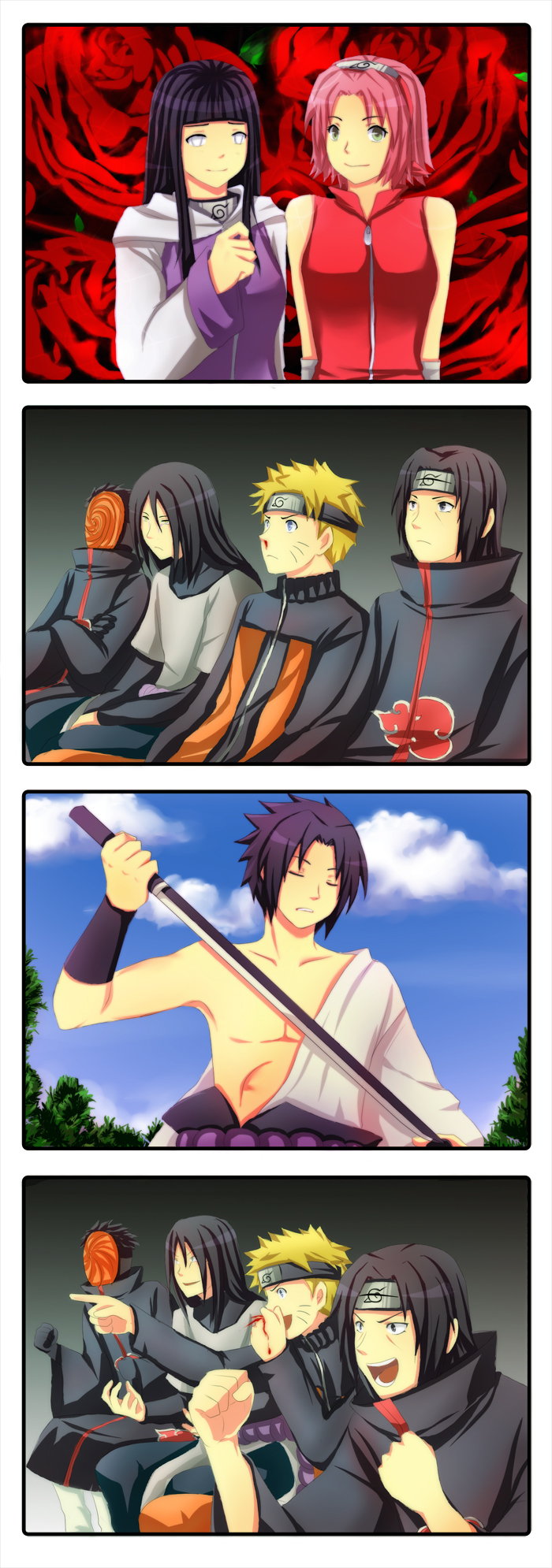 Anime Characters React Fanfiction : Reaction guys naruto shippuuden fan art  fanpop
