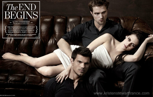Robert, Kristen y Taylor en Entertainment Weekly