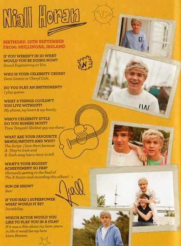 Scans of the 1D limited edition yearbook! [Up All Night] ♥