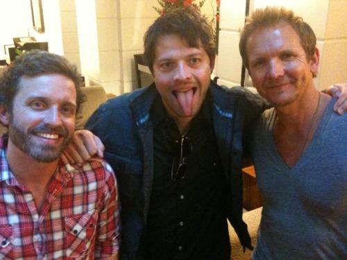 Sebastian Roché, Rob Benedict , Misha Collins ^_^
