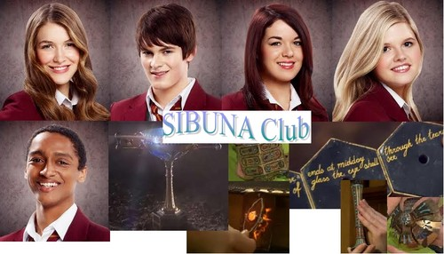 The House of Anubis wallpaper with a portrait titled Sibuna club