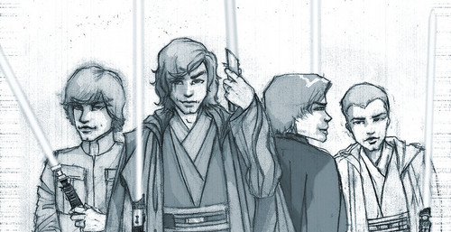 étoile, étoile, star Wars fond d'écran entitled Skywalker Men (Anakin, Luke, Jacen, Ben)