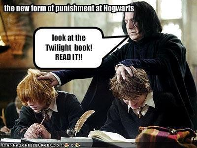 Snape came up with a new punishment