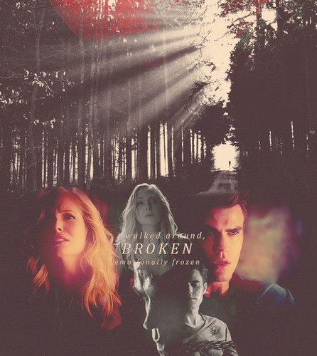 Stefan Salvatore and Caroline Forbes