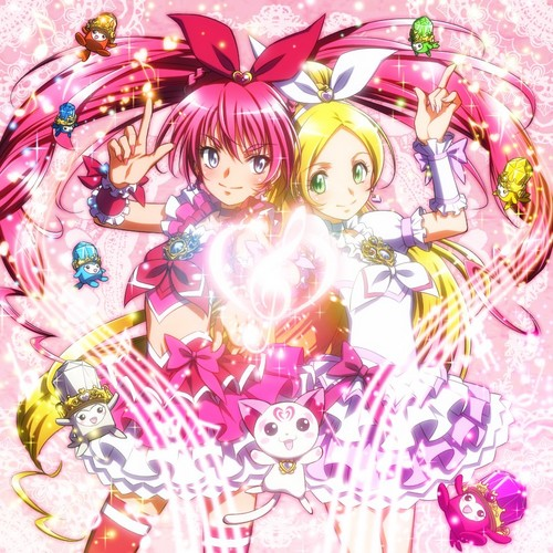 pretty cure দেওয়ালপত্র possibly containing a bouquet titled Suite Precure
