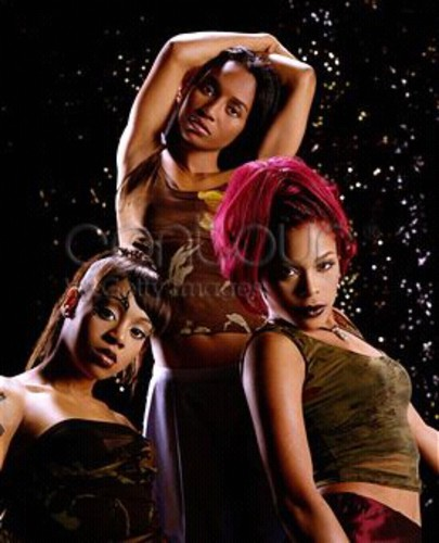 TLC (Music) wallpaper probably containing a cocktail dress, attractiveness, and a bustier entitled T.L.C.