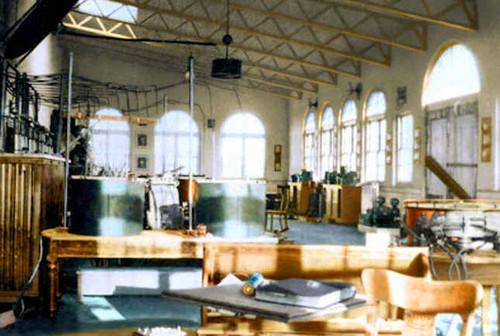 Wardenclyffe lab, restored interior, 1912