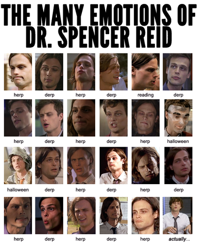 Criminal Minds wallpaper titled The Many Emotions of Dr. Spencer Reid