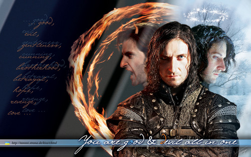 Richard Armitage wallpaper possibly containing a concert and a sign titled Three hypostases of Guy