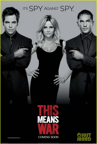 Tom Hardy & Chris Pine: 'This Means War' Poster with Reese Witherspoon