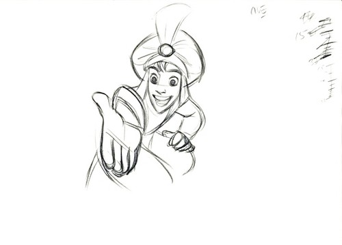Walt Disney Sketches - Aladdin