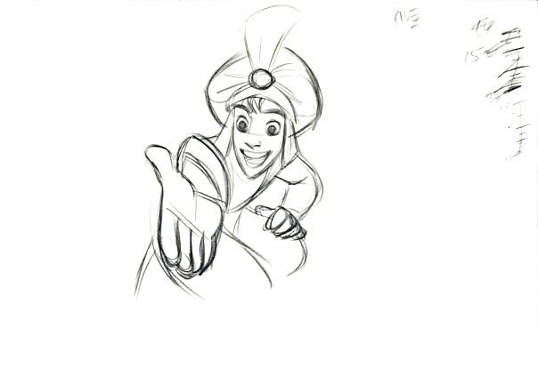 Walt Disney Sketches - Aladdin