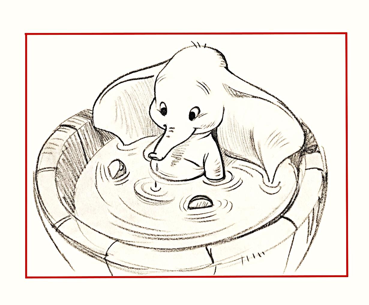 Walt 디즈니 Sketches - Dumbo