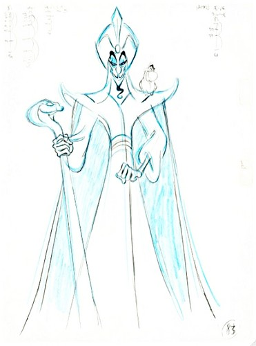Walt Disney Sketches - Jafar & Iago