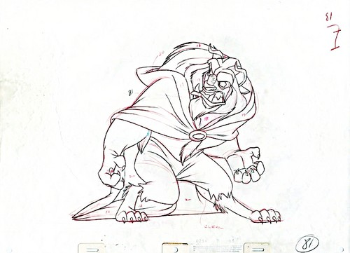 Walt Дисней Sketches - The Beast