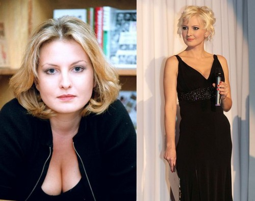 Writer Bara Nesvadbova of plump women was due to Obst diet,happend almost skinny model