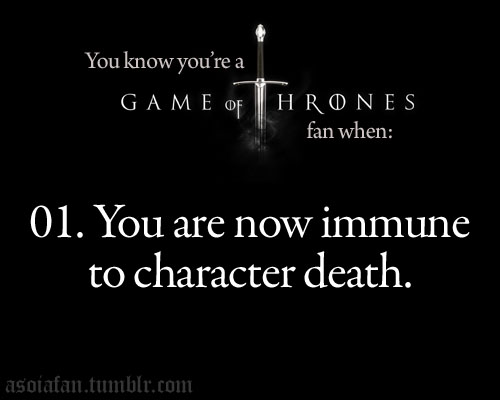 Du know you're a Game of Thrones Fan when
