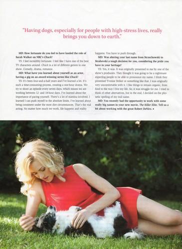 Yvonne Strahovski in the Winter 2011/2012 Issue of 'Modern Dog'