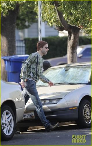 Zachary Quinto: Suspenders in Silverlake
