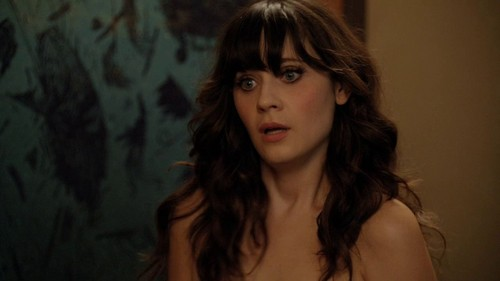 Zooey Deschanel wallpaper containing a portrait titled Zooey Deschanel in New Girl - Naked - 1.04
