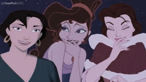 belle, meg and مرینا