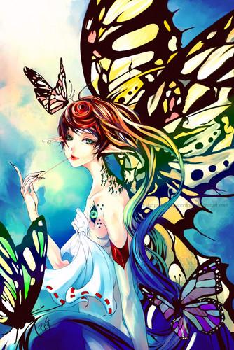 con bướm, bướm art