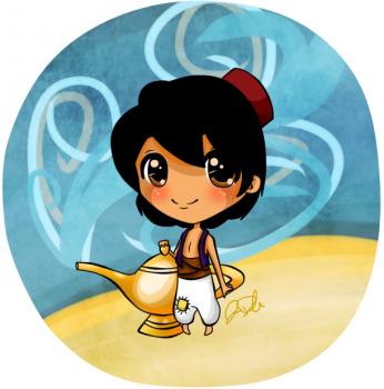 Aladdin achtergrond called chibi aladin