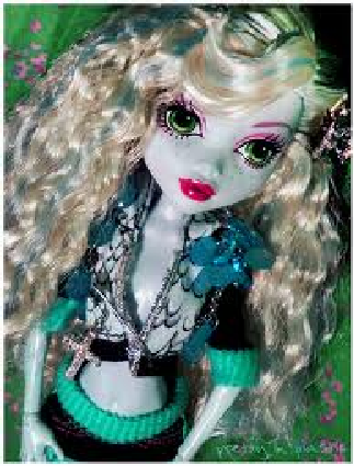Monster High wolpeyper titled pretty lagoona blue doll